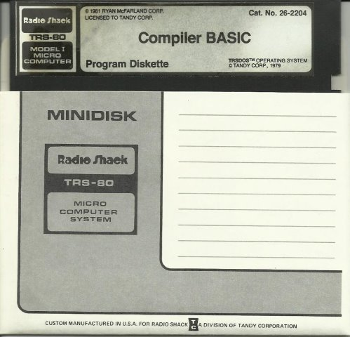 Compiler Basic TRS 80 M1 Program Diskette